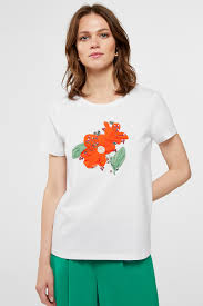 <b>Floral embroidery</b> t-shirt | T-shirts | Cortefiel Man & <b>Woman</b>