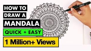 how to draw <b>MANDALA ART</b> for beginners | Vijayta Sharma - YouTube