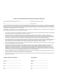 non compete agreement template templates in pdf word non compete agreement sample