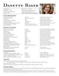 examples of acting resumes examplebeginner acting beginner sample resume for actors examples theater resume example sample acting how to write a beginners acting resume