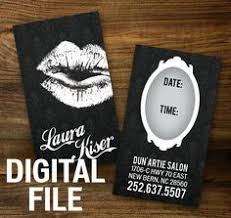 custom make up artist business cards digital file