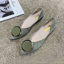 Office Lady Flat Work Shoes Fashion <b>Casual Pointed</b> Toe Flats ...