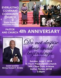eccc events calendar everlasting covenant community church eccc 4thanniversary flyer