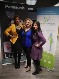 avanti women karlyn percil strikes a pose dina barazza founder of avanti women mandy kaur marketing events manager