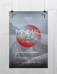 minimal event flyer template photoshop get minimal event photoshop flyer template