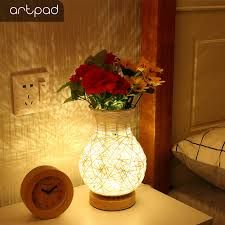 <b>Artpad</b> Modern USB Table Lamp Wood Shade 5W decoration Night ...