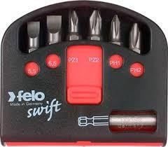 <b>Набор бит Felo</b> 8 шт с держателем бит 02060116 купить в ...