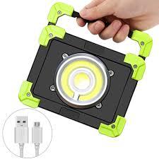 Waterproof Flood Lights COB <b>USB Rechargeable LED</b> Work Light ...