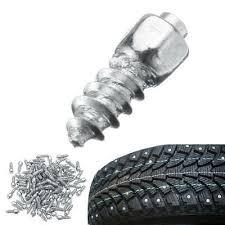 <b>100PCS</b> Universal <b>Car Tire</b> Stud Screw Non-slip Metal Snow Ice ...