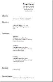 blank chronological resume templates free  seangarrette coblank chronological resume