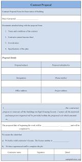 proposal form bid proposal form