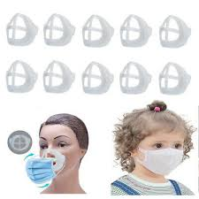 10Pcs <b>3D Face Masks</b> Bracket <b>Inner</b> Support Frame Kids Adult ...