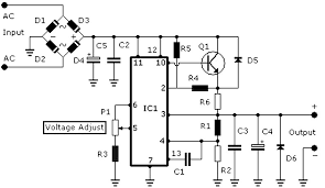 regulated power supply circuit diagram with explanation      v power supply  a circuit diagram circuit diagram world