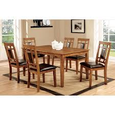 seven piece dining set: liberty furniture santa rosa mission oak  pc dining set dining table sets at hayneedle