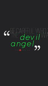 IPhone Wallpaper HD Devil Angel Quote Wallpaper 661 - Wallpaper Goo