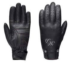 Harley-Davidson® <b>Women's</b> Skull <b>Rivet</b> Full-Finger <b>Leather Gloves</b> ...