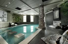 beautiful grey brown wood glass unique design home ideas pools pool backyard modern house inside wall amazing indoor pool house