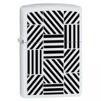 Zippo <b>214 Abstract</b>, <b>Зажигалка зиппо</b> с черно-белым узором ...