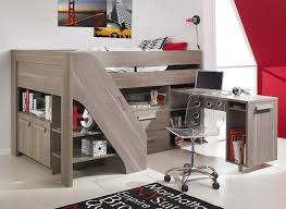 image of loft bunk bed with stairs and desk bunk bed office