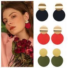 <b>2019 Boho</b> Statement Geometric Circle <b>Metal</b> Earrings Women ...