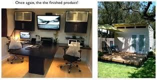 a backyard shed office