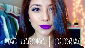 <b>MAC Heroine</b> Lipstick   Tutorial - YouTube