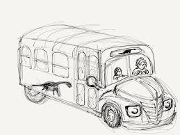 Small Picture Bus With Driver And Children Bus Coloring Pages Pinterest