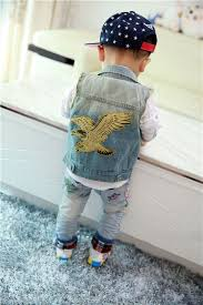 kids <b>boys girls</b> Jeans <b>Denim Jacket</b> Vest <b>Jeans Jacket</b> eagle ...