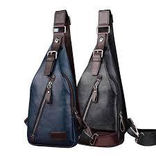 New <b>Men</b> Leather/Nylon <b>High Quality Travel</b> Cross Body Messenger ...