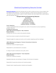 resume format for electrical engineers resume format for electrical engineers 40 sample resume formats for mykalvi