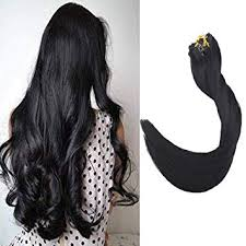 Fshine 14 inch 9Pcs Clip in Real Human Hair ... - Amazon.com