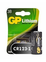 <b>Батарейки</b> GP Photo Lithium (<b>CR123A</b>-BC1), 1шт. 3В GP 6458250 ...