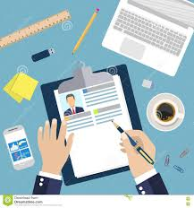 illustration concept of resume writing stock vector image  illustration concept of resume writing