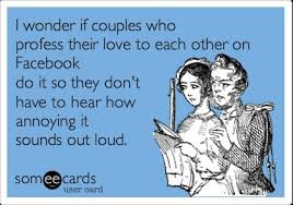 I wonder if couples who profess their love to each other on ... via Relatably.com