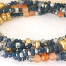 Heather Gray Long <b>Seed Bead</b> Wrap Bracelet, <b>Necklace</b> by ...