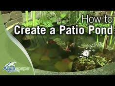 create diy patio pond how to create a diy patio pond all in one design youtube