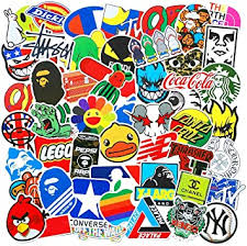 <b>100 Pcs Fashion</b> Brand Cool Stickers for Laptop Stickers: Amazon.in ...
