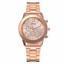 <b>Rose</b> Gold & Silver <b>Watch Luxury Fashion</b> Women <b>Watch</b> ...