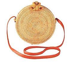 Handwoven Round <b>Rattan Bag</b> for <b>women</b> | <b>Handmade Rattan</b> ...
