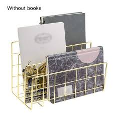 HEMU FASHION Wrought <b>Iron Metal Three Grid</b> Bookshelf Creative ...