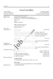 word resume formats english worksheet blank pertaining to  93 outstanding sample resume formats