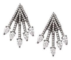 Купить серьги-джекеты черненые с кристаллами <b>Herald Percy</b> ...