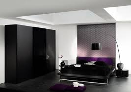 black and white bedroom designs with deep purple color black white bedroom design suggestions interior