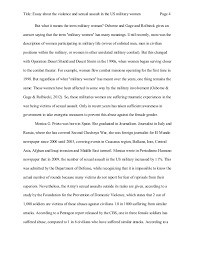 military essay  wwwgxartorg essay about the violence and sexual assault in the us military women