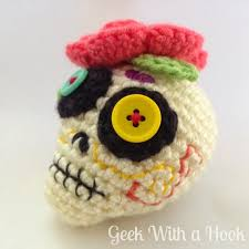 Day Of The Dead <b>Sugar Skull</b> Free Amigurumi <b>Pattern</b> | Crochet ...