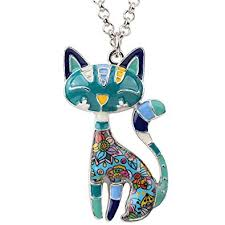 BONSNY Statement Enamel Alloy Chain Cat ... - Amazon.com