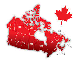 Image result for simple canada map