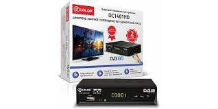 Ресивер <b>DVB</b>-<b>T2 D</b>-<b>Color DC1401HD</b> черный