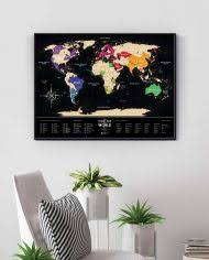 Cкретч-<b>карта</b> мира <b>Travel</b> Map Black
