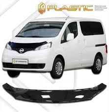 <b>Дефлектор капота</b> Nissan NV200 (<b>Classic</b> черный ...